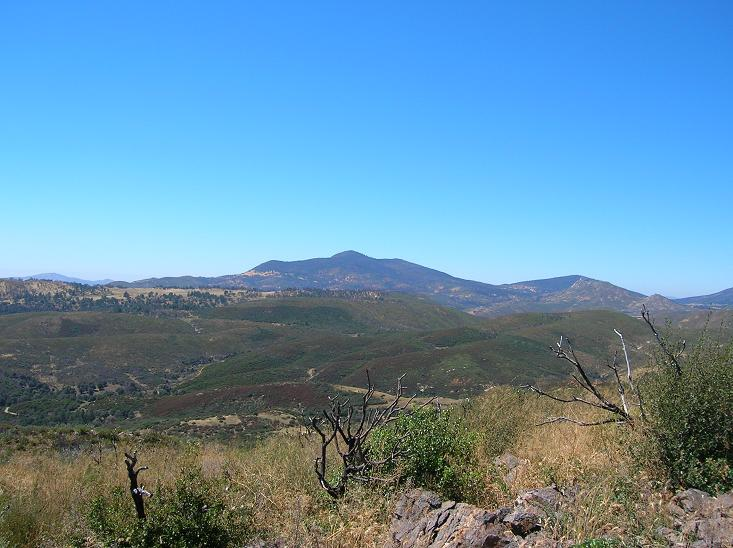 Great view of Cuyamaca Peak from Indian Creek Trail