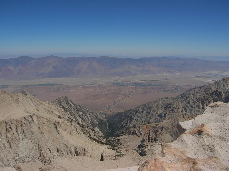 From summit looking east to Lone Pine and the Portal where we started