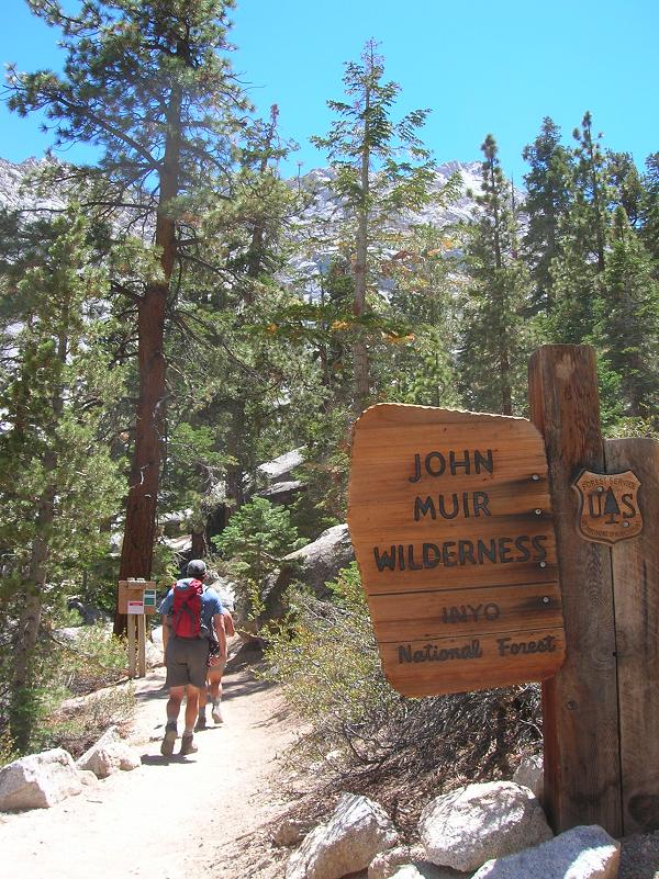 Entering John Muir Wilderness - No permit required for this part