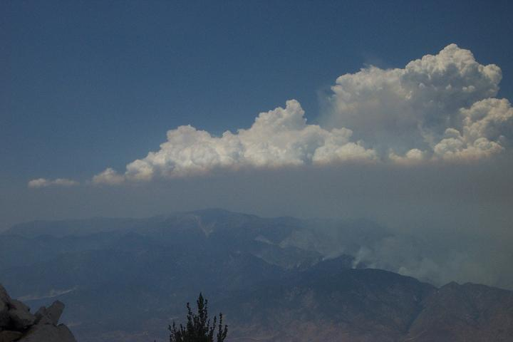 Sawtooth fire, makes for an interesting photo with the smoke and clouds