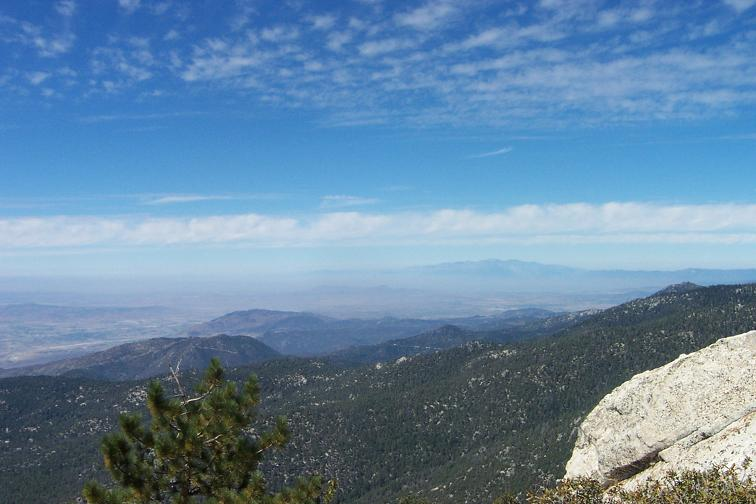 That's Mt. Baldy in the distance - left of it is smog