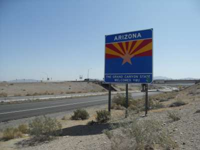 Now entering Arizona