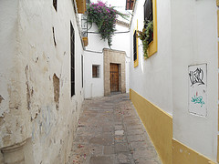 alley in Cordoba, Spain