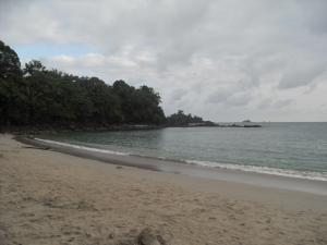 One of the many beautiful beaches at Manuel Antonio