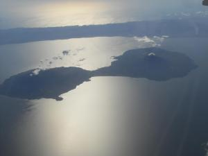 Volcan Concepcion and Maderas from the airplane - Ometepe Island, Lake Nicaragua