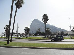 Rock of Gibraltar, looking from Spain