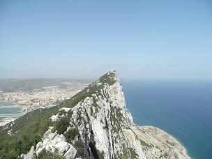 View of rock of Gibraltar from visitor center
