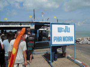 Getting on the boat bound for Koh Phangan