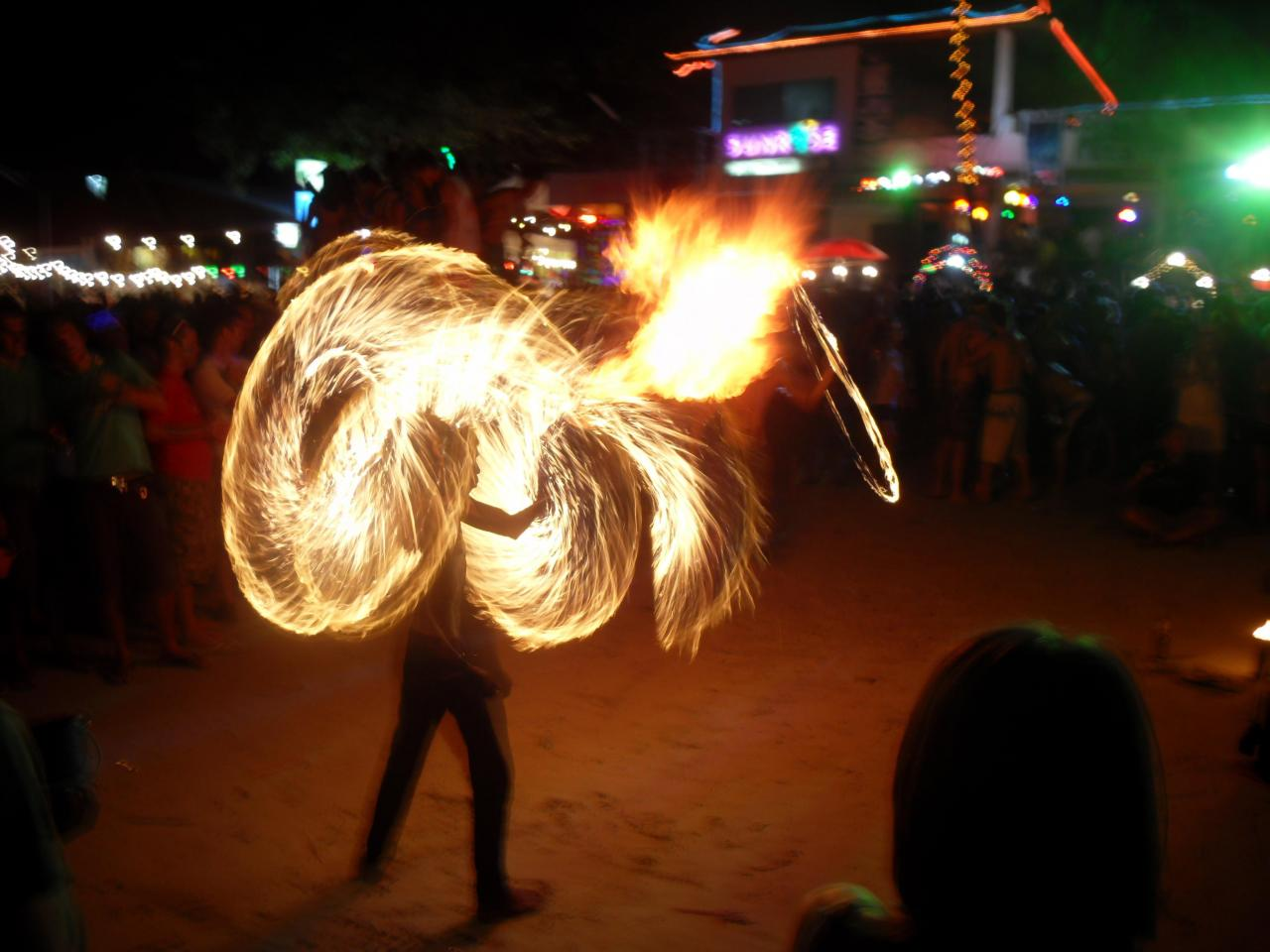 Full Moon Fire Fire Dancer Full Moon Party