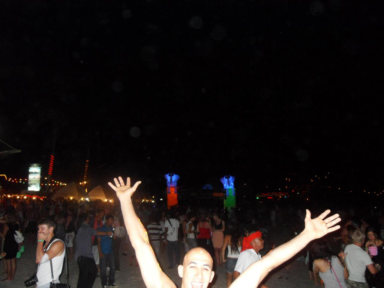 Excited to be at Full Moon Party (this is not me)