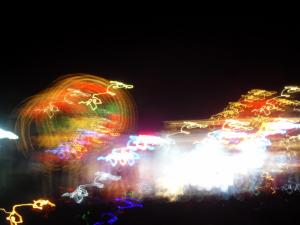 Full Moon Party blurry lights