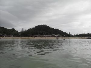 Looking into the beach from water, Koh Phi Phi