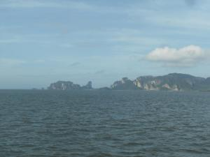 View from the ferry on the way to Koh Phi Phi