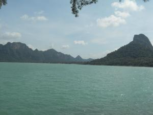 First view of the Gulf from the ferry port in Surat Thani