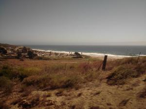 View from Amtrak south of Santa Barbara