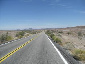Long open desert road, Arizona