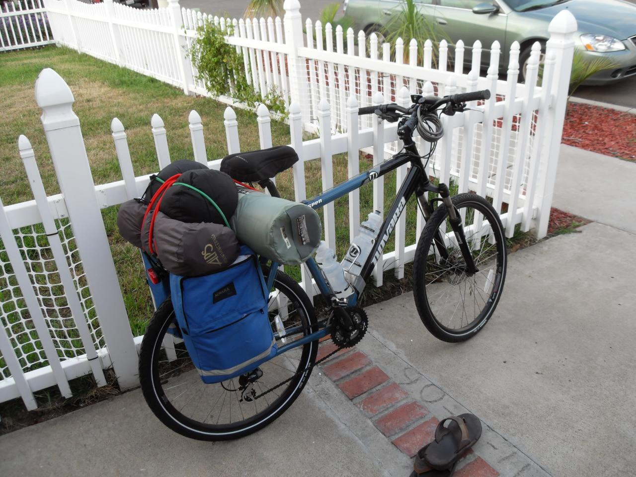 Packed and ready to go for 7 day bike trip