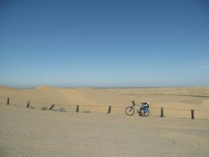 My bike in the Glamis sand dunes