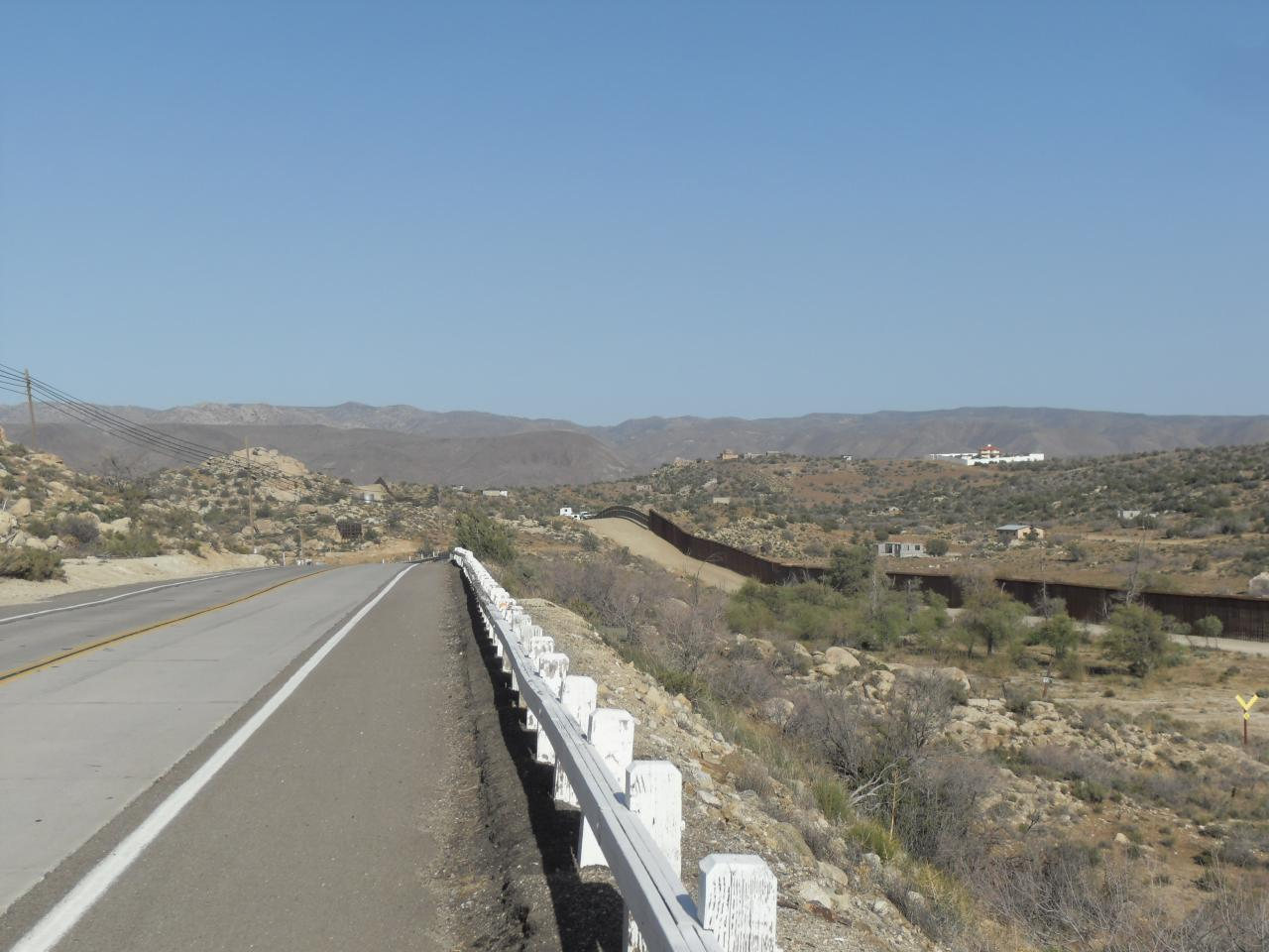 Near Jacumba and the   United States / Mexico border fence