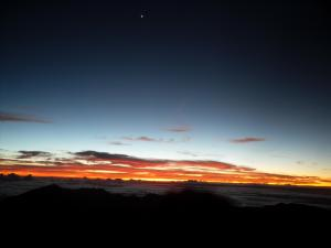 Above the clouds on Haleakala, the stars are bright
