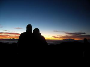 Me and my fiance on Haleakala volcano