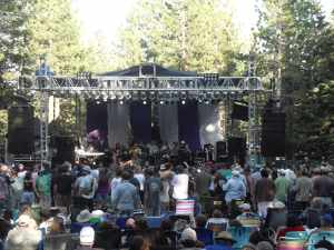 John Lee Hooker Jr onstage, Mammoth Lakes, Beer and blues festival