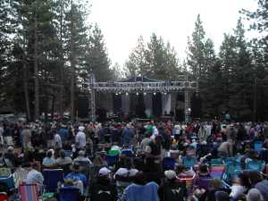 Setting up the stage for the headliners, Beer and Blues Festival, Mammoth Lakes